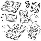 Esboço dos dispositivos móveis Imagem de Stock Royalty Free