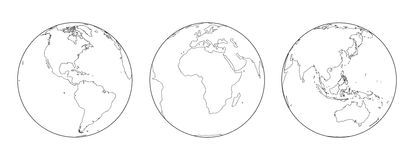 Esboço dos globos Fotografia de Stock