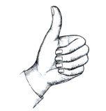 Esboço, gesto Ilustração do Vetor