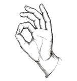 Esboço, gesto Ilustração Stock