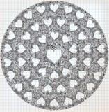 Esboço ornamentado do coração ilustração do vetor