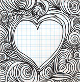 Esboço ornamentado do coração ilustração stock