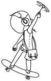 Esboço-pequeno-piloto ilustração stock