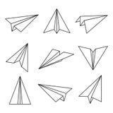 Esboço plano de papel Imagem de Stock