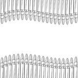 Esboço sem emenda da beira da bala ilustração royalty free