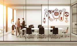Esboço Startup na sala de conferências Fotografia de Stock Royalty Free