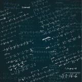 Esboço tirado mão do vetor da ilustração da álgebra no fundo branco ilustração stock