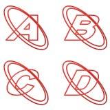 Esboço vermelho 1 das letras de capital Fotografia de Stock