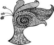 Esboços abstratos do pavão Ilustração do Vetor