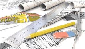 Esboços da casa ilustração do vetor