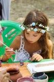 Esboços da pintura da menina da argila Imagens de Stock Royalty Free