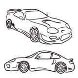 Esboços do carro de esportes ilustração stock