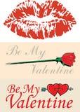 Esboços do Valentim do vetor Imagem de Stock Royalty Free