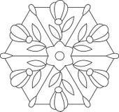 Esboços do vidro manchado floral Foto de Stock