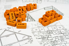 Esboços dos edifícios Imagens de Stock