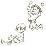 Esboços dos meninos ilustração do vetor
