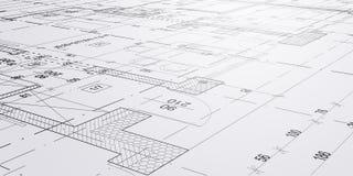 Esboços e desenhos da arquitetura imagens de stock