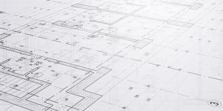 Esboços e desenhos da arquitetura fotografia de stock