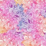 Esboçado decorativo das garatujas multicoloridos do teste padrão Imagens de Stock Royalty Free