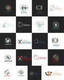 Esboce o redemoinho e o grupo geométrico abstrato mínimo do logotipo do círculo Foto de Stock