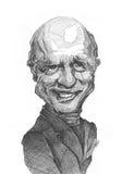 Esboço da caricatura de Ed Harris Fotos de Stock Royalty Free