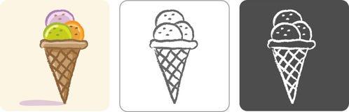 Esboço da cor do gelado Fotografia de Stock