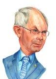 Esboço de Van Rompuy Caricatura Foto de Stock