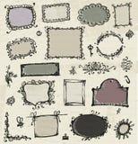 Esboço dos frames, desenho da mão para seu projeto Fotos de Stock Royalty Free