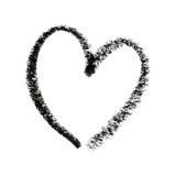Esboço pintado do símbolo do coração. Imagens de Stock Royalty Free