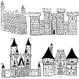 Esboços do castelo Fotos de Stock Royalty Free
