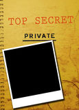 Escándalo de la foto del detective privado Foto de archivo libre de regalías