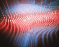 Escáner de código binario de la huella dactilar libre illustration