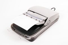 Escáner de la cama plana Imagen de archivo libre de regalías