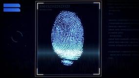 Escáner de la huella dactilar, sistema de identificación Fotos de archivo