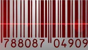 Escáner del código de barras almacen de video