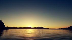Escénico granangular en la orilla de Lake Havasu almacen de metraje de vídeo