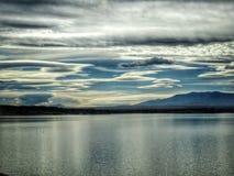 Escénico pacífico en el parque de estado del pueblo del lago Imagen de archivo