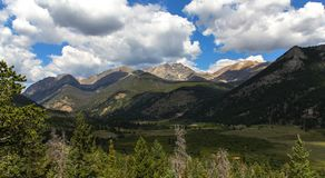 Escénico pase por alto a Rocky Mountain National Park Fotos de archivo libres de regalías