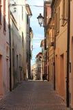 Escénico urbano de Sirolo Fotos de archivo