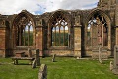 Escócia - abadia da melrose imagens de stock royalty free