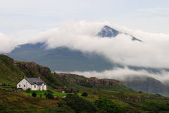 Escócia, ilha Mull com tempestade de aproximação Imagens de Stock