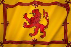 Escócia - Lion Rampant Flag - padrão real escocês Fotografia de Stock