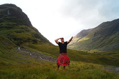 Escócia no kilt foto de stock royalty free