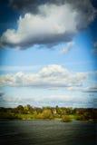 Escócia rural, paisagem com uma casa Foto de Stock Royalty Free