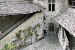 Escúdese Chillon, cerca de Montreux, lago Ginebra, Suiza, mayo de 200 foto de archivo libre de regalías