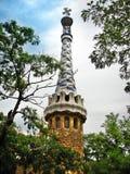 Escúdese en el parque de Guell de Barcelona Gaudi imagen de archivo libre de regalías