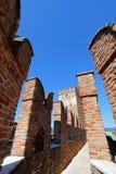 Escúdese la fortaleza (Castelvecchio) en Verona, Italia septentrional Imagenes de archivo