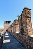 Escúdese la fortaleza (Castelvecchio) en Verona, Italia septentrional Fotos de archivo
