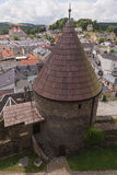 Escúdese la torre, Wehrturm Elsterberg, Burg Ruine Fotos de archivo