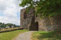 Escúdese la torre, Wehrturm Elsterberg, Burg Ruine Foto de archivo libre de regalías